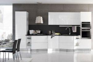 Прямолинейные кухонные комплекты Stosa с электротехникой Candy от Stockist Italy